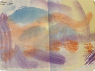 Horizontal watercolors by Riley